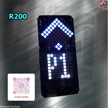 نمایشگر ریزشی (ماتریسی) دو دات پنل کابین آسانسور R200