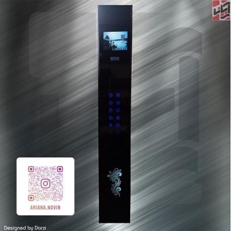 پنل شستی داخل کابین آسانسور لمسی همراه با نمایشگر طبقات عکس و فیلم 10 اینچ